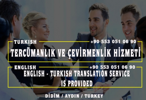 Tercümanlık ve Çevirmenlik Hizmeti - English - Turkish Translation Service is Provided